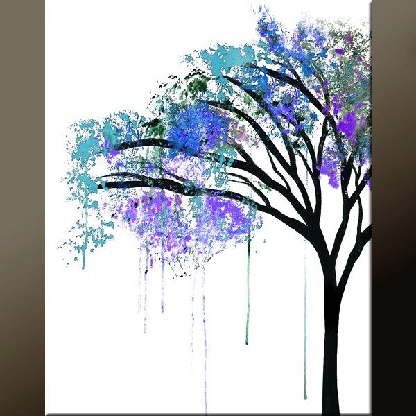 Abstract Art Print - 11x14 Contemporary  Modern Abstract Art by Destiny Womack -  dWo - The Weeping Tree. $20.00, via Etsy.