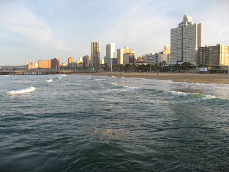 The breathtaking view from the pier in Durban