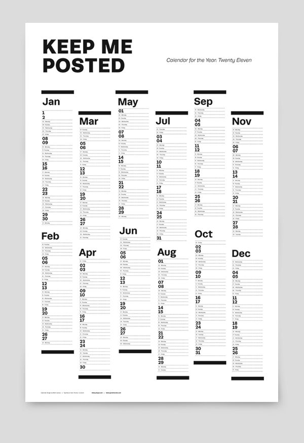 #calendar #practical #events calendar