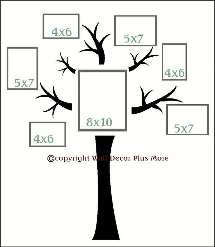 Wall Décor Vinyl Decal Tree With Branches Sticker. I want this in my living room! Perfect for grouping family pictures in a collage. Choose your branch color!