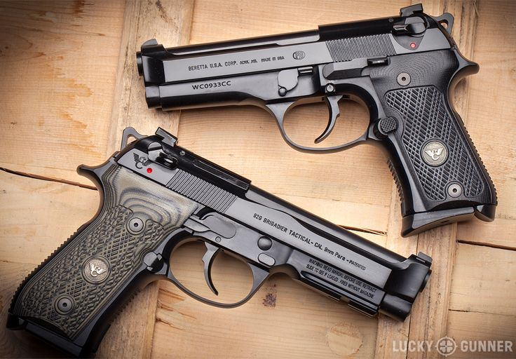 Top: Wilson Combat Beretta 92G Compact Carry. Bottom: Wilson Combat Beretta 92G Brigadier Tactical