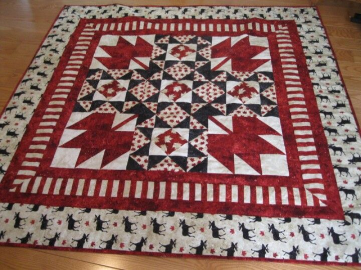 OH CANADA Northcott collection pattern by Upper Canada Quitworks Quilted by Meandherquilts