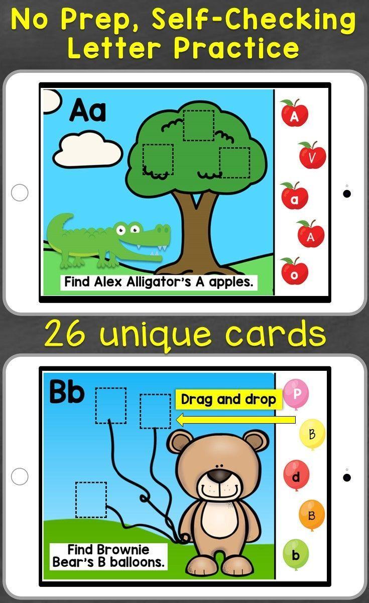 Alphabet Letter Recognition Letter Review Digital Boom Cards
