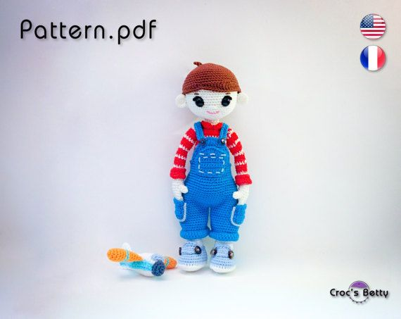 Pattern  Arthur & his Airplane by CrocsBetty on Etsy