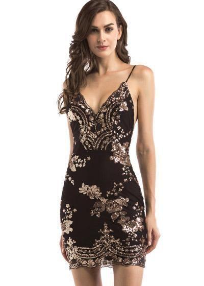 998458693 Vestido de Lantejoula Curto Festa | Trajes | Vestido bordado curto ...