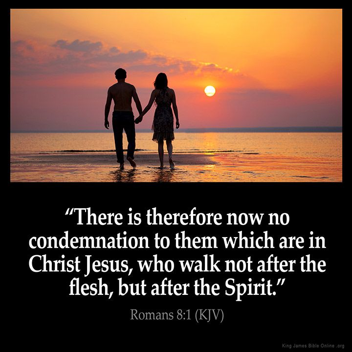 Romans 8:1 Inspirational Image