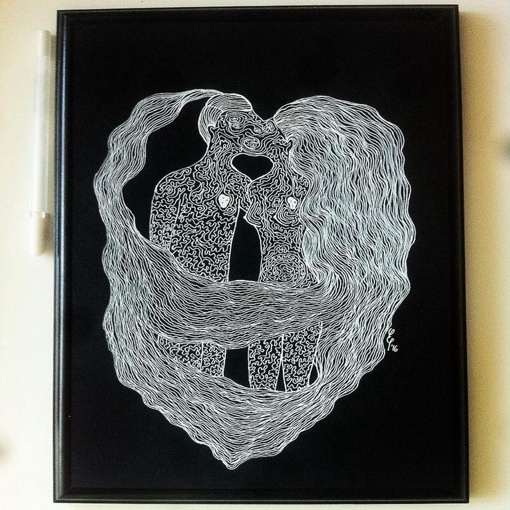 #lovers #illustration #whiteink #love #drawing Elena Paraschiv Illustration