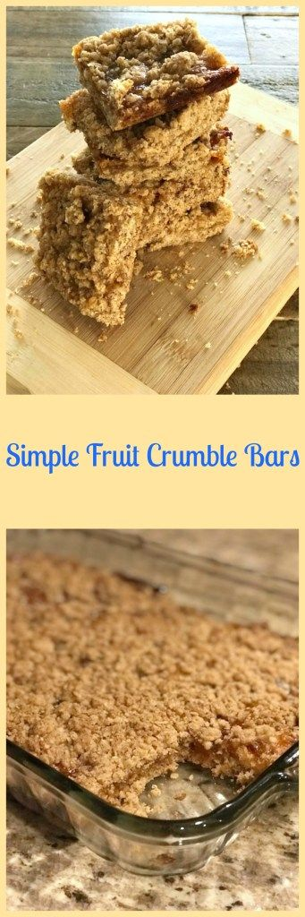 Simple Fruit Crumble Bars - Skinny Sweets Daily
