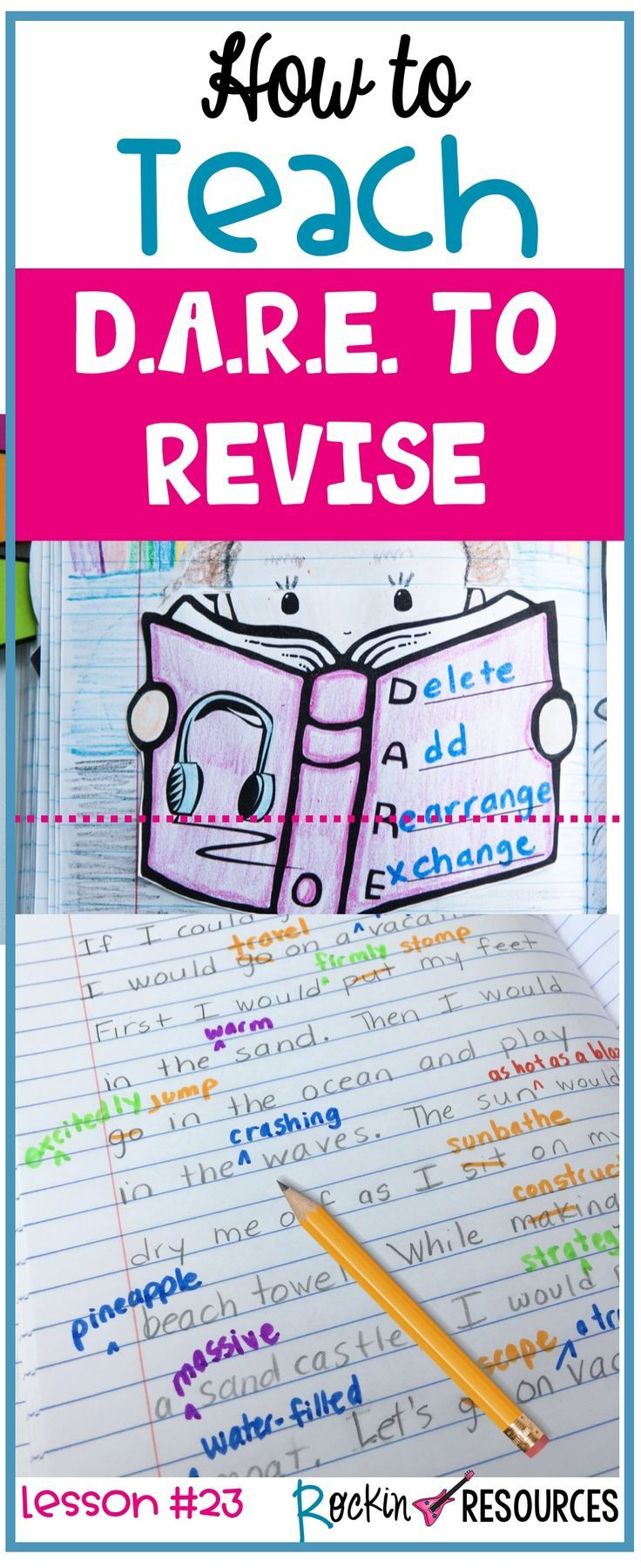 Students are finished with their rough drafts and what do they want to do? Immediately write a final copy. NOOOOOOOOOO!!!!! This post will provide ideas for your writer's workshop when teaching your students how to REVISE a narrrative essay. It is also a part of a series of writing mini lessons that scaffold through the writing process ideal for any writing curriculum.