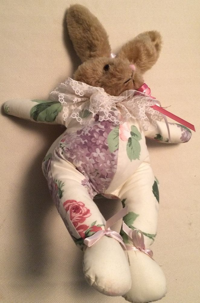 123 best collectible dolls and bears images on pinterest vintage victorian bear home decor floral polished cotton bunny rare collectible negle Choice Image