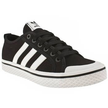 Women's Black & White Adidas - Honey Low Stripes Trainers $47.00 on schuh.co.uk .