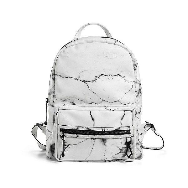 Eddie Borgo for Target Backpack White Marble ($27) ❤ liked on Polyvore featuring bags, backpacks, white, day pack backpack, white rucksack, white bag, jewel bag and backpack bags