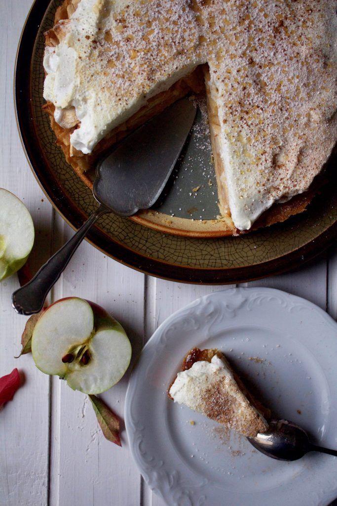 szarlotka apple pie jabłka apple apples ciasto ciasto kruche beza cynamon meringue cinnamon