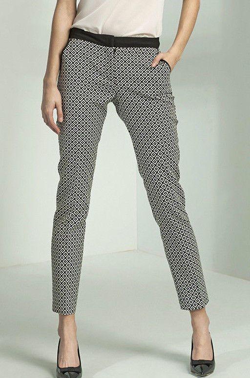 Pantalon Femme habillé tailleur Motif Losanges sd13 Nife   #Tailleurhabill
