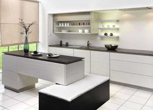 Wonderful New Modern Black And White Kitchen Designs From KitcheConcept :  New Modern Black And White Kitchen Designs From KitcheConcept With Kitchen  Island ...