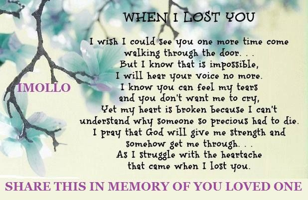 Memory Of Lost Loved Ones Quotes : memory of a loved one Quotes I Love Pinterest Mothers, Memories ...