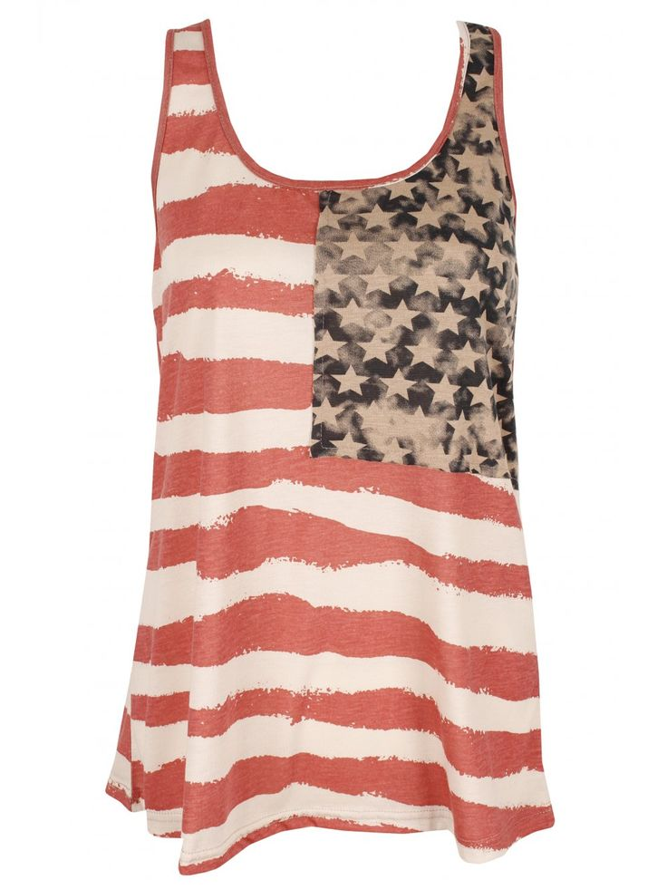 : Fashion, Style, Tank Tops, Clothing, Fourth Of July, July Outfit, American Flags Tanks, 4Th Of July, Vintage American Flags