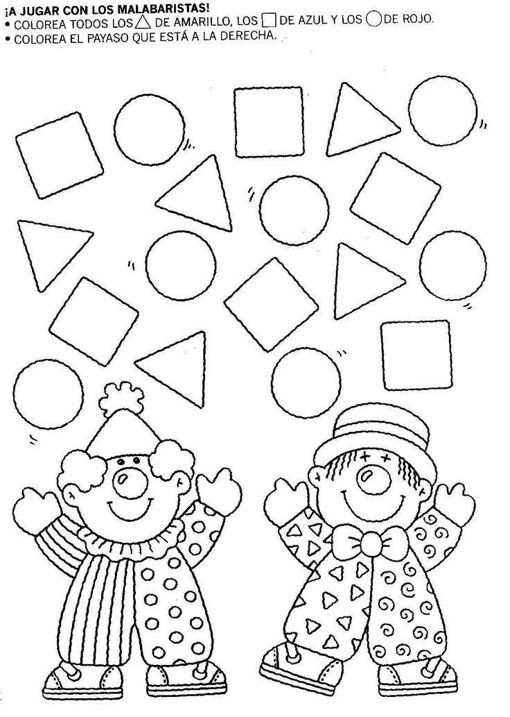 Resultado de imagen para actividades sobre las figuras geometricas para preescolar