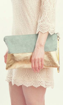 The Belinda Clutch ///// Pastel Suede Clutch
