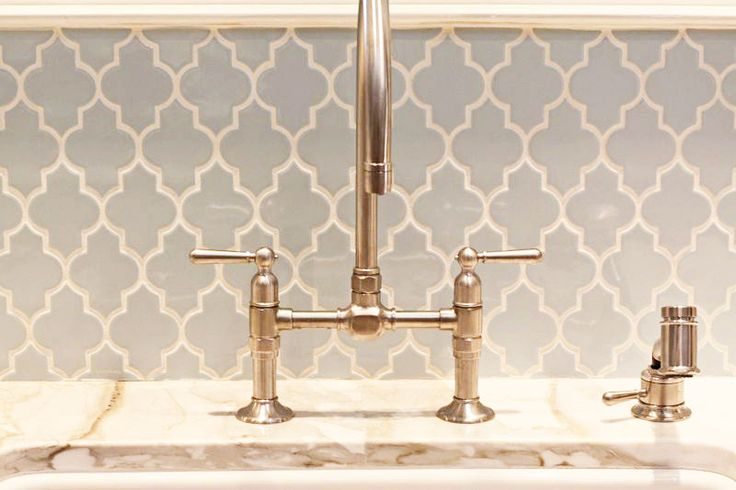 blue lantern tile backsplash