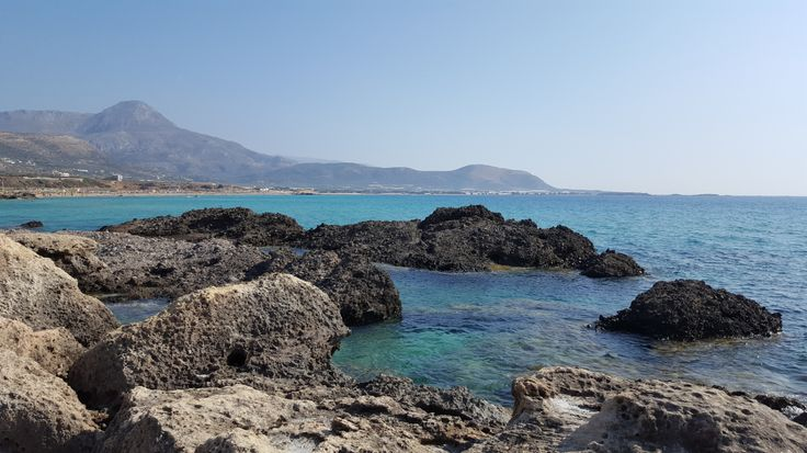Falassarna, Crete - the beach between the rocks #trivo