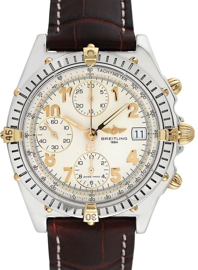 Breitling Watches Men's Vintage Breitling Chronomat Vitesse 18K Yellow gold and Stainless Steel Watch, 40mm