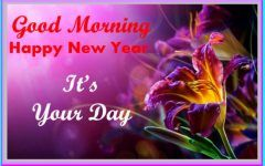 good morning images with new year wishes