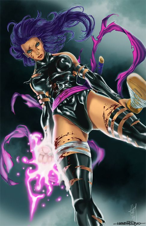 Psylocke on a Dark Night