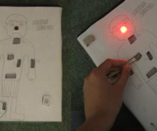The board game Operation is based on a very simple circuit, so you can build your own and customize it really easily!