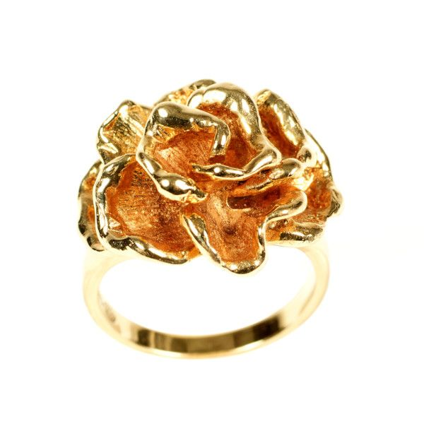 14k yellowgold ring in the shape of a rose made by Georg Lauer