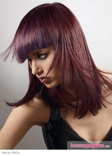 Glam Purple Hair Highlights Idea