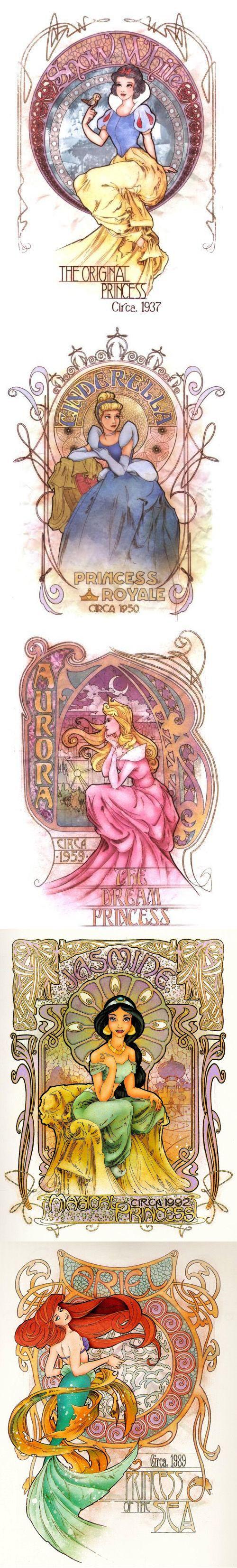 Disney Art Nouveau by Enrique Pita & Ed Irizzary