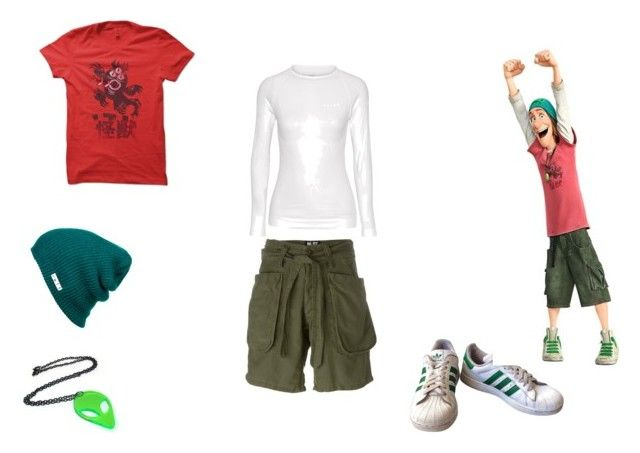 fred by mayleneholm on Polyvore featuring NLST, Falke, adidas and Neff