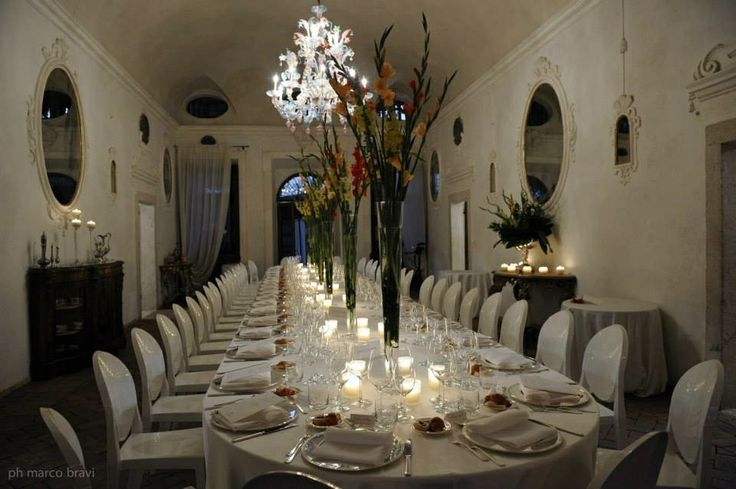 A stunning setting for dinner at Villa Della Torre in our very own Allegrini hall of mirrors.