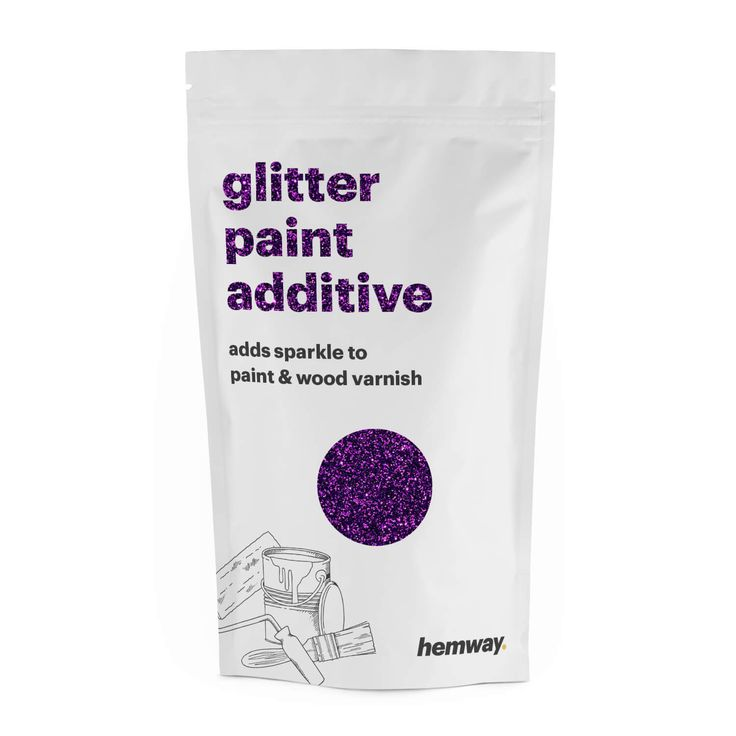 Hemway | Glitter Paint Additive Purple Crystals 100g / 3.5oz for Acrylic Latex Emulsion Paint - Interior / Exterior Wall, Ceiling, Wood, Furniture, Varnish, Dead flat, Matt, Gloss, Satin, Silk