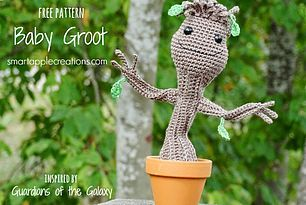 Baby Groot Knitting Pattern : 96 best images about Crochet Patterns on Pinterest Free pattern, Potholders...