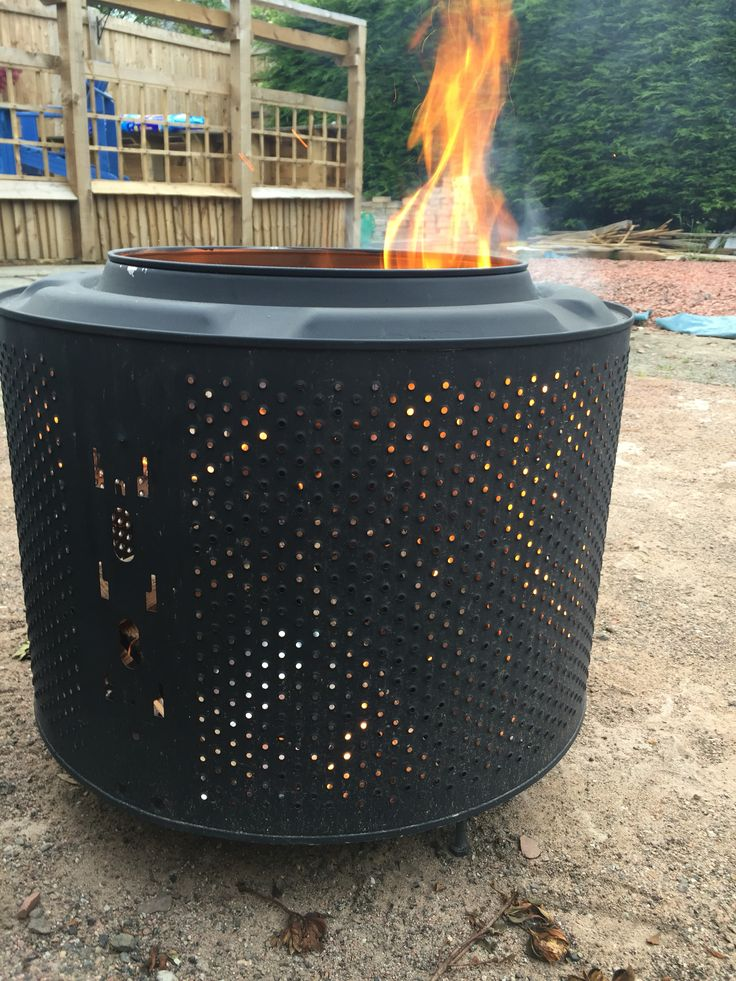 DIY / Backyard Fire Pit from a recycled washing machine ...