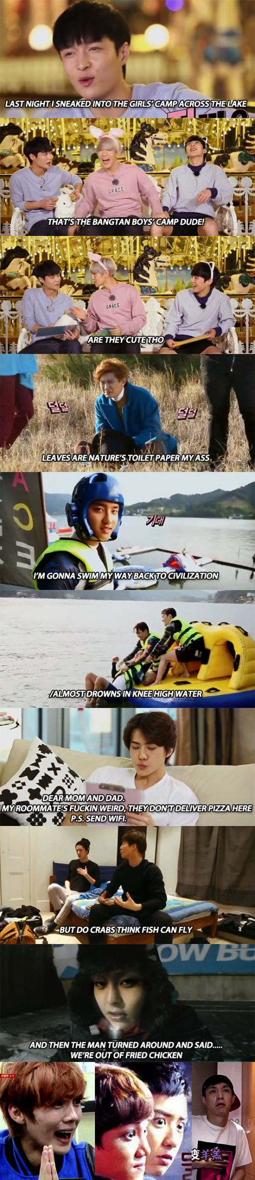 Welcome to Camp EXO ^^^ EXO fake subs are the best!