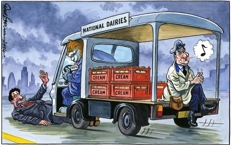 16 January 2014 - Bankers are the cats that got the cream as Osborne defends them in this cartoon via @The Independent newspaper