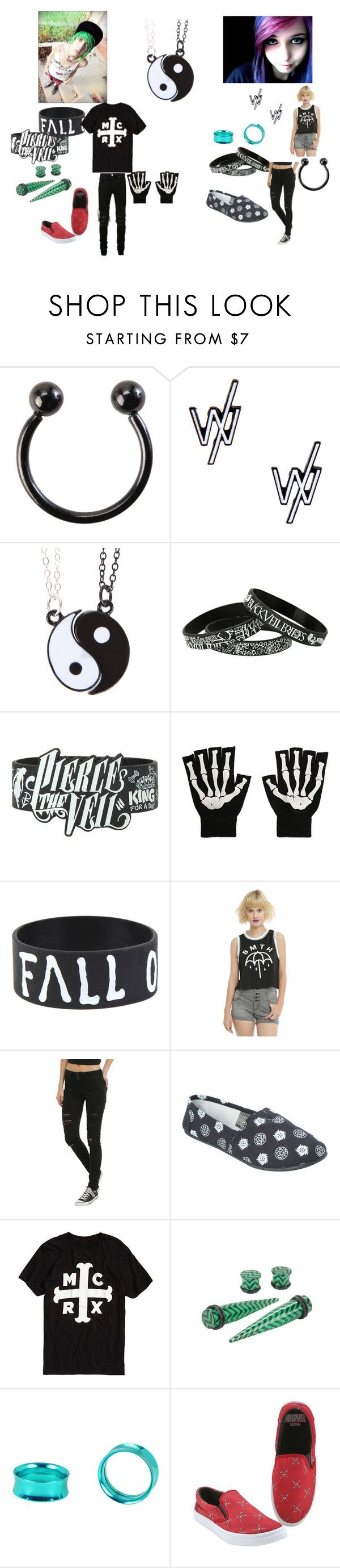 """""""Together Forever Emo Scene Couple"""" by alexemoforever ❤ liked on Polyvore featuring AMIRI and plus size clothing"""