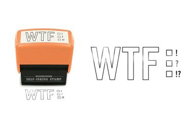 """LMAO.......WTF! Concise and to the point. A perfect office gift for the boss or coworker.  Stamp Size : 3.2"""" x 3.5"""" x 1.625 """" Imprint area: 2.25"""" x 0.83"""""""