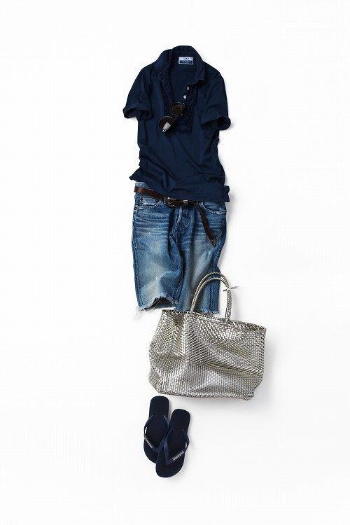 ネイビートーンで作る大人カジュアルな着こなし 2012-09-24