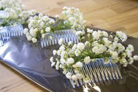 gypsophila wedding hair - Google Search