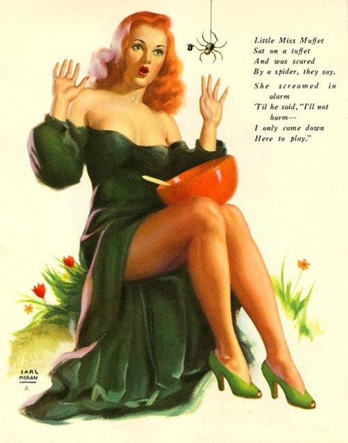 Earl Moran Little Miss Muffet: