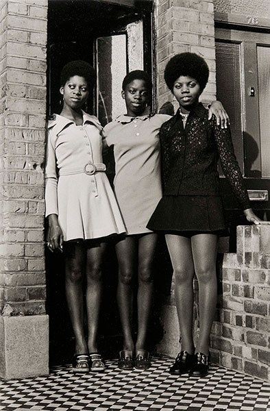 The Bailey Sisters in Clapham, c1970 . Photograph: Neil Kenlock