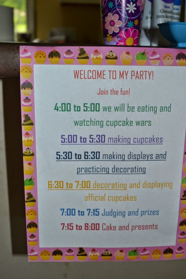 Cupcake Wars Birthday Party