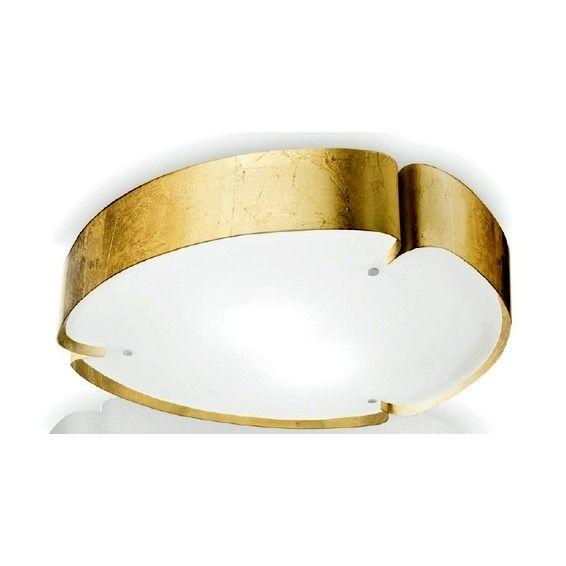 Matrioska, потолочный светильник, цвет корпуса - золотой, цвет отражателя - белый, 2x46W E27