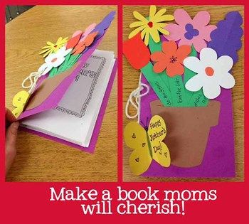 HAPPY MOTHER'S DAY!  Moms will LOVE the special memories kids write about in this book. Its a fun, easy Mothers Day gift that the moms of your students will cherish. The writing portion of this book is perfect for writing workshop!  Students create a card/book. Students are given prompts to:  -Write a friendly letter -Make lists about mom (or aunt, grandma, etc.) -Write a poem -Share favorite memories, times spent together -Draw a portrait of mom -Tell their mom how she's made a…