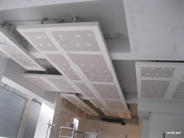 Cielo falso drywall imagui dise o de interiores for Modelos de cielo falso
