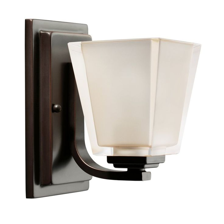 Kichler Lighting 1-Light Urban Ice Olde Bronze Modern Vanity Light